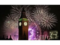 London NYE Fireworks - BLUE AREA - Best Area!