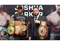 ANTHONY JOSHUA vs JOSEPH PARKER BOXING TICKETS - WORLD HEAVYWEIGHT CHAMPIONSHIP UNIFICATION FIGHT