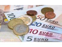 900 Euro to EXCHANGE TO POUNDS