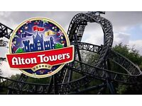 2 ALTON TOWERS TICKETS FOR SATURDAY THE 8TH OF OCTOBER 2016