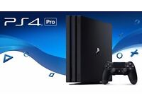 PS4 PRO 1TB plus 3 top title games + 2 controllers