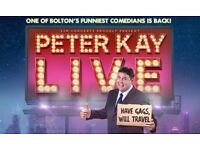4 x Peter Kay BEST SEAT PACKAGE - Manchester 25/06/18