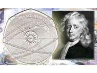 Rare Sir Isaac Newton 50p from Woolsthorpe Manor with Receipt