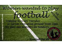 Calling all women footballers