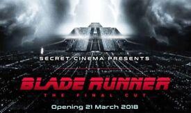 2 x Secret Cinema Tickets APRIL 19th