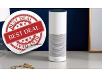 White Amazon Echo HD Speaker with Voice Controlled Personal Assistant NEW