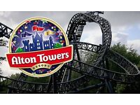 4 x ALTON TOWERS TICKETS FOR THIS TUESDAY AS CAN NOT GO NOW. £15.00 EACH OR ALL 4 FOR £50.00