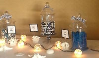 Beautiful Glass Candy Bar Containers - multiple uses!