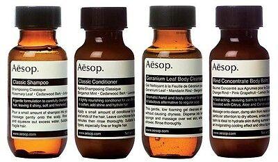 Aesop Jet Set: Shampoo 50ml Conditioner 50ml Body Cleanser 50ml Body Balm 50ml
