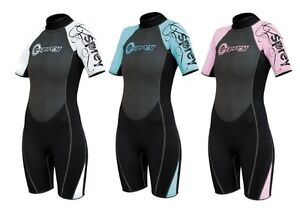 OSPREY-OSX-LADIES-SHORTIE-WOMENS-SHORTY-WETSUITS-PINK-BLUE-WHITE-XS-XL