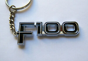 FORD-F100-KEY-CHAIN-NEW-CHROME-KEY-RING