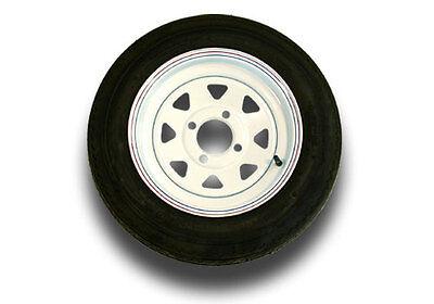 4.80 x 12 B Bias Trailer Tire and Wheel -4 Hole White - 790 lbs. #SJ8510-19