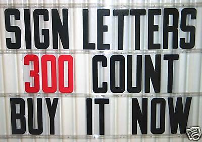 8 Inch Flexible Letters For Portable Marquee Readerboard Signs
