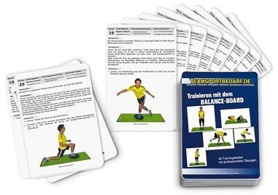 Trainingskarten - Balance Board Therapiekreisel Wackelbrett (30 Workouts) (Balance Board Training)