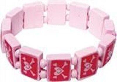 Wholesale Job Lot 180 Wooden Pink Pirate Bracelets *Boys *Girls *Kids