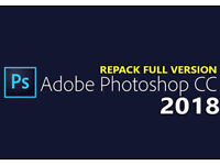 ADOBE PHOTOSHOP CC 2018 MAC or PC (PERMANENT)