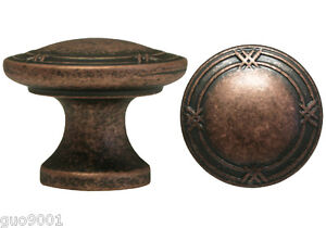 Antique Copper  Ribbon & Reed Kitchen Cabinet Drawer Knobs and Pulls  3