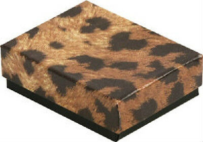 Wholesale 100 Small Leopard Cotton Fill Jewelry Gift Boxes 178