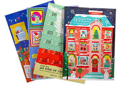TRADER JOE'S CHOCOLATE ADVENT CALENDARS 2020 Set of 4- Factory Sealed NEW