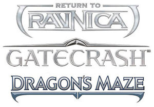 MTG 4x x4 4 ** RETURN TO RAVNICA GATECRASH DRAGON'S MAZE COMMON UNCOMMON ** Set