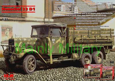 ICM 1/35 HENSCHEL 33 D1 WWII GERMAN TRUCK