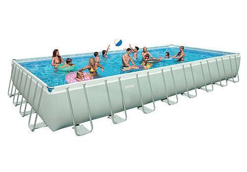 Rectangular above ground swimming pool ebay for Square above ground pool