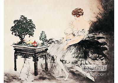 Le Jardin Japonais by Louis Icart (Art Print of Vintage - Jardin Vintage Print