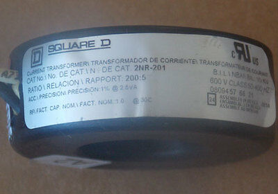 Square D 2nr-201 Current Transformer 2005 Ratio Window Used