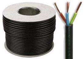 0.75 mm~ Round Flex ~3 Core Cable --- 1pcs 100m ~ 1pcs 50m 1pcs 25m--- Flexible PCV Roll Wire.