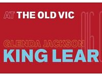 4 tickets for sold out King Lear at The Old Vic with Glenda Jackson