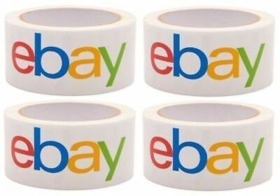 4 Rolls Ebay Branded 2 X 75 Ft. Bopp Adhesive Packing Tape Packaged New