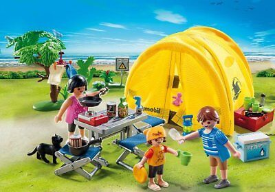 Toys Set Family Camping Trip Playmobil Figure Accessories Kids Toddler Gift