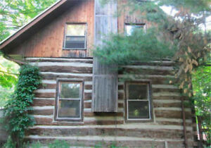 LOG HOME+BARN+ INCOME!  7.25 AC!  CTY RD 10 S OF NEW LOWELL