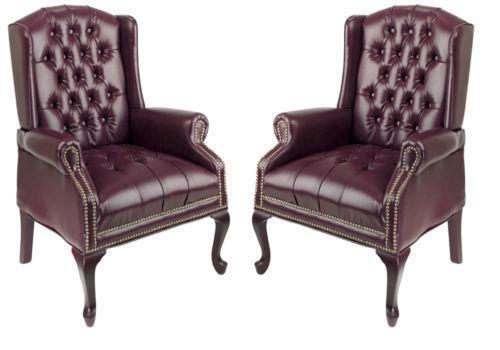 Queen Anne Wing Chair Ebay