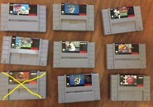 selling super nintendo games