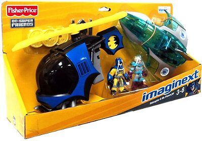FISHER PRICE IMAGINEXT_DC Super Friends_BATCOPTER & MR. FREEZE JET Exclusive Set