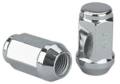 Set of 32 Chrome 9/16 Bulge Acorn Long Closed Ended Lug Nuts 1994-2010