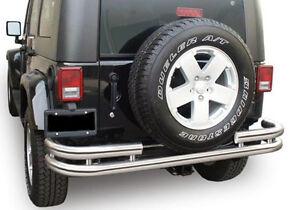 Jeep Wrangler rear chrome bumper