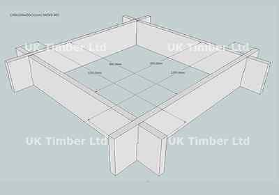 Slot Together Regular Oak Raised Bed Kit - Square - Raised Beds / Planters