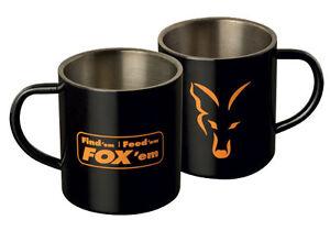 Fox Black Stainless Steel Carp Fishing XL Mug
