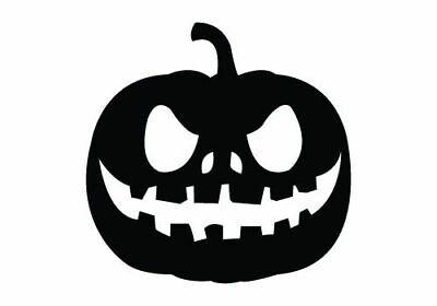 Die Cut Vinyl Decal Pumkin Jack-O-Lantern Halloween DIY Craft 20 Colors #77