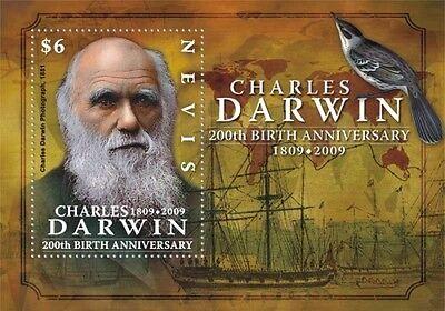 Nevis - Charles Darwin 200th Birthday MNH