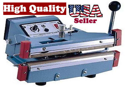 16 Impulse Hand Sealer With Cutter Heat Seal Bag Slide To Cut 5mm