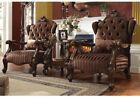 Acme Wooden Velvet Chairs