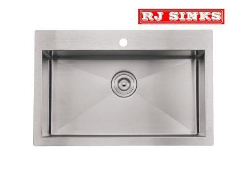 Top Mount Stainless Steel Farmhouse Sink : Stainless Steel Sink Top Mount eBay