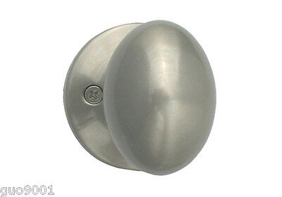 - Dummy Brushed Nickel Oval Egg Shape Knob Door Handle Lock Closet Locks