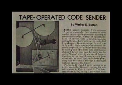 Telegraph Building (Telegraph Code Sender 1944 HowTo build PLANS Practice Machine )