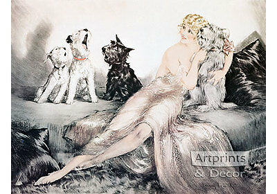 Perfect Harmony by Louis Icart (Art Print of Vintage Art)