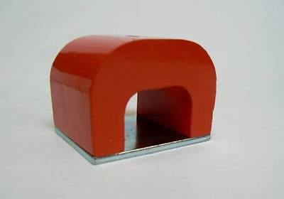 Strong Red Alnico Horseshoe Magnet 70 Lb Capacity Pull Power 24 Oz Tool Magnets