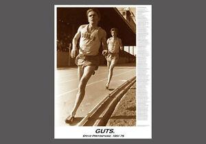 Steve Prefontaine GUTS Classic Career Commemorative Running POSTER Print